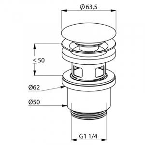 Донний клапан для раковини Push-Open