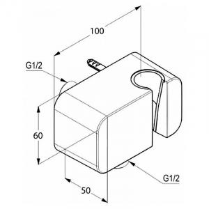 Подключение A-QA для душевого шланга с держателем