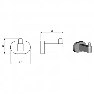 Крючок Chrome (CR 110.00)