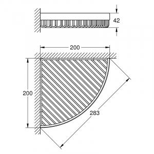 Полочка Selection Cube угловая решетка