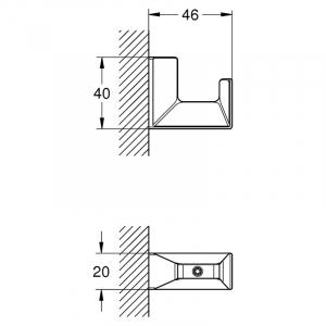 Гачок Selection Cube, хром