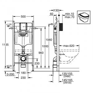 Інсталяція Rapid SL для підвісного унітазу