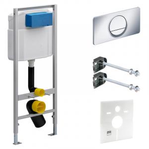Инсталляционный модуль Viega Eco с кнопкой Visign 13, креплениями и звукоизоляцией