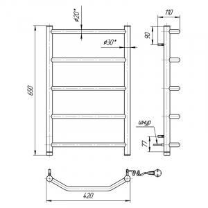 Полотенцесушитель Трапеция HP-I 65x43