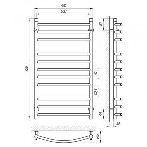 Полотенцесушитель Класік П11 50x90