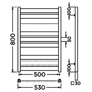 Полотенцесушитель Санти 80x53/50