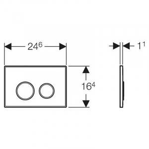 Кнопка Sigma 20, білий / хром
