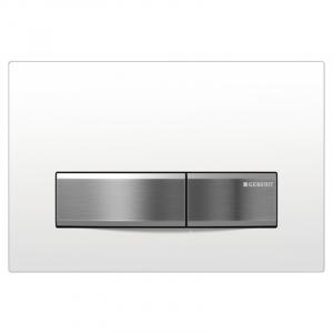 Кнопка Sigma 50, білий / хром