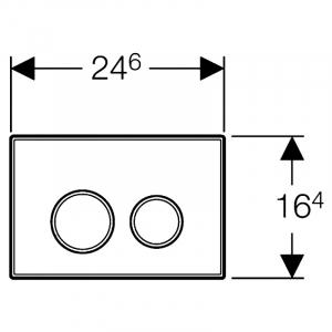 Кнопка Sigma 20, черный/хром