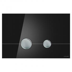 Кнопка Stero чорне скло
