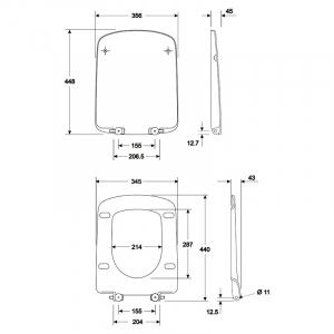 Інсталяція Duofix 3-in-1 458.126.00.1 + чаша унітаза Nova Pro Rimfree M33123000
