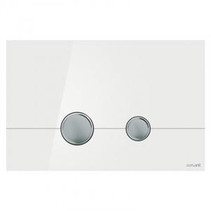 Кнопка Stero біле скло