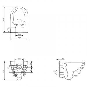 Інсталяційна система Aqua 52 QF c овальної чашею унітаза Crea