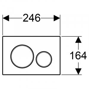Кнопка Sigma 20 білий матовий лак