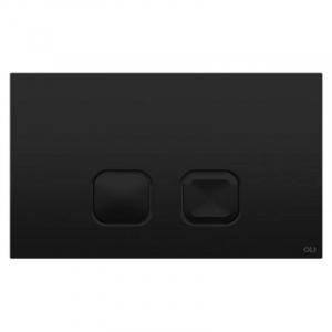 Кнопка змиву Plain Soft-touch 3/6 чорна