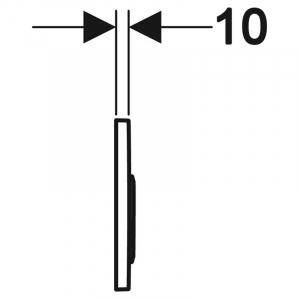 Кнопка Omega 20 белая