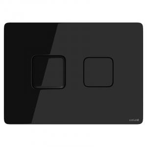 Кнопка Accento Square чорне скло