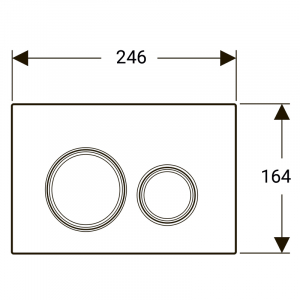 Кнопка Sigma 21 білий/червоне золото