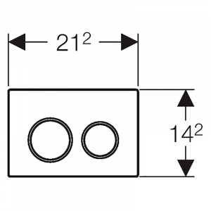 Кнопка Omega 20, хром