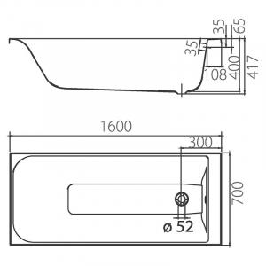 Ванна Фортуна 160х70
