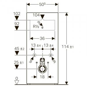 Інсталяційна система Monolith для підвісного унітазу