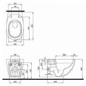Инсталляционная система Duofix Delta + чаша унитаза Ego Rimfree с сиденьем