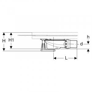 Сифон с ножками и монтажным набором для поддонов Setaplano
