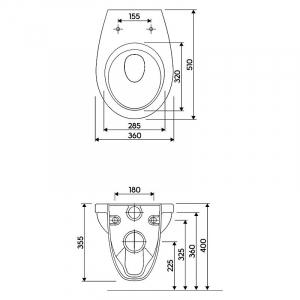 Інсталяційна система Duofix Delta + чаша унітазу Idol з поліпропіленовим сидінням