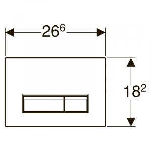 Кнопка Sigma 40 с системой удаления запахов, матовая черная