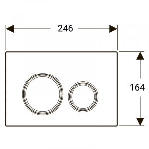 Кнопка Sigma 21 біле скло