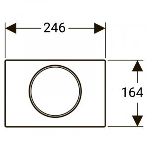 Кнопка Sigma 10, нержавіюча сталь