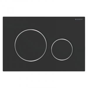 Кнопка Sigma 20 матовый черный/глянцевый хром
