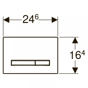Кнопка Sigma 50 белая