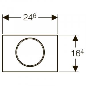 Кнопка Sigma 10 з легкоочіщаемой поверхнею, чорна / хром