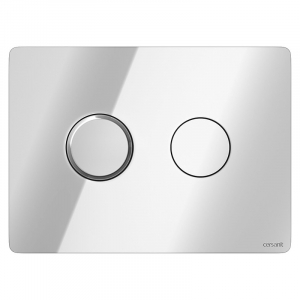 Кнопка Accento круглая, глянцевый хром