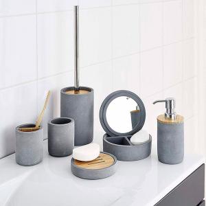 Дозатор для жидкого мыла Cement серый