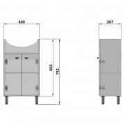 Шкафчик L-50N(B) под раковину Libra 50, белый