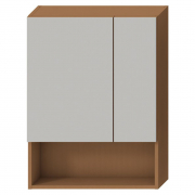 Шкафчик зеркальный Lyra 80, вишня