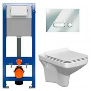 Інсталяційна система Aqua 22 з кнопкою Intera+унітаз Como Clean On з сидінням Slim