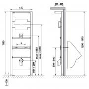 Інсталяційний модуль для пісуара Cersanit