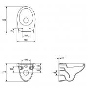 Інсталяційний модуль Target з кнопкою, чашею унітаза Delfi і сидінням