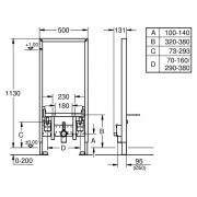 Инсталляционный модуль Rapid SL с уголками