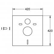 Инсталляционный модуль Rapid SL с уголками, кнопкой и звукоизоляцией