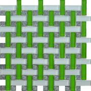 Мозаика Плетёнка зеленая