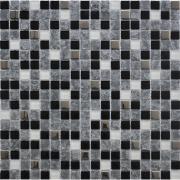 Мозаика Ice черная микс 2201