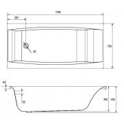 Акриловая ванна Virgo 170х75