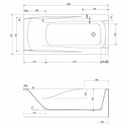 Ванна Zen 180x85