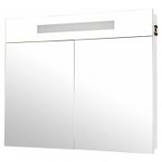 Шкафчик зеркальный Ника 95, белый