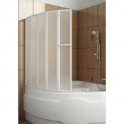 Шторка на ванну Novum 5, белая