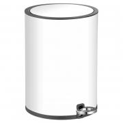 Контейнер для мусора 6 л, белый с черным